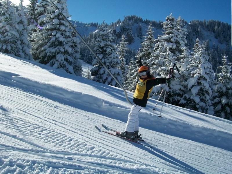 Skier à Hauteluce